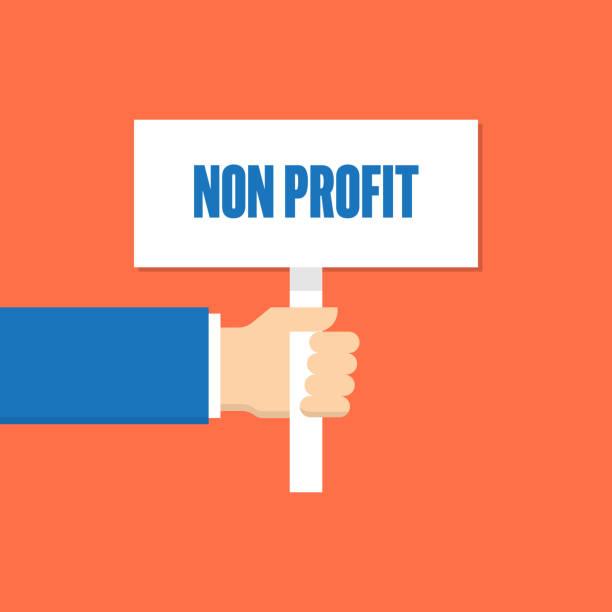 stockillustraties, clipart, cartoons en iconen met non profit megafoon lijn plat - non profit
