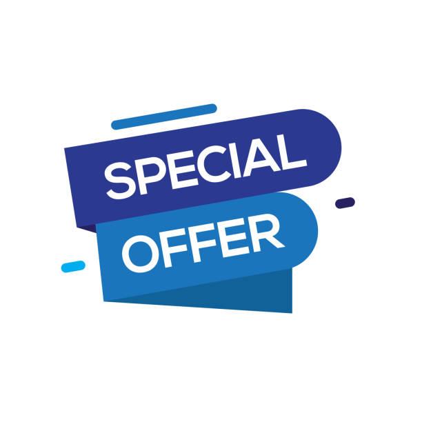ilustrações, clipart, desenhos animados e ícones de conceito de oferta especial - tag