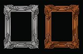 solid frame designs in pewter and bronze