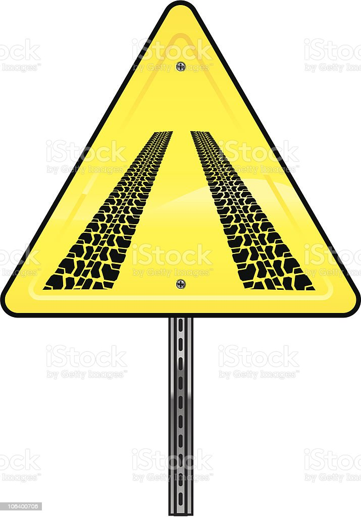 SKID SIGN royalty-free skid sign stock vector art & more images of breaking