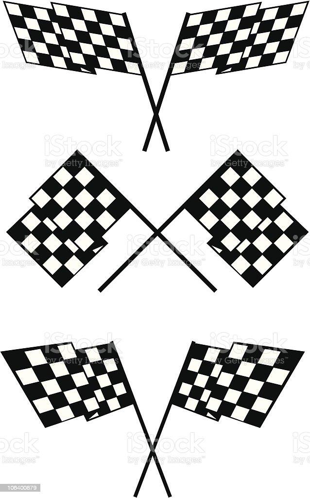 CHECKER FLAGS vector art illustration