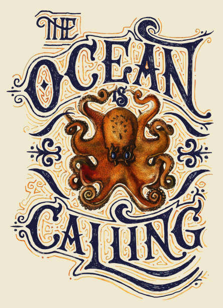 illustrations, cliparts, dessins animés et icônes de the_ocean_is_calling - tatouages marins