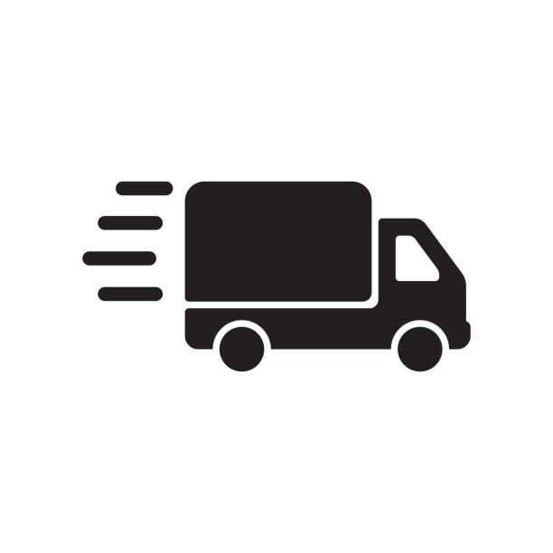 illustrazioni stock, clip art, cartoni animati e icone di tendenza di delivery icon - logistica