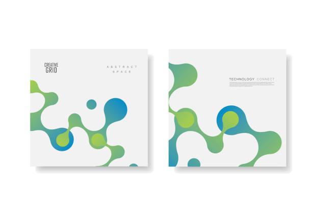 ilustrações, clipart, desenhos animados e ícones de шаблон брошур и баннеров вариант 2 - planos de fundo de ciências