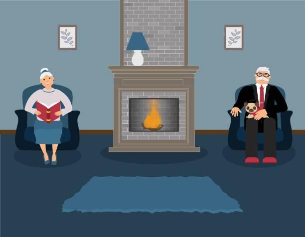"ð""ð»ñ ð˜ð½ñ'ðµñ€ð½ðµñ'ð° - old man sitting chair clip art stock illustrations, clip art, cartoons, & icons"