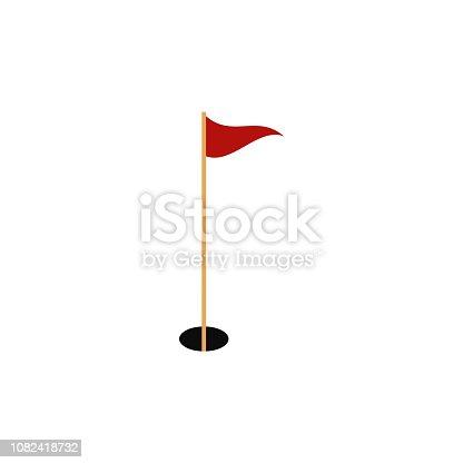 Golf flag icon. elite sport. Vector eps10