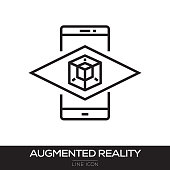 AUGMENTED REALITY LINE ICON