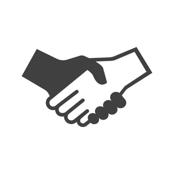 신뢰 개념 - handshake stock illustrations