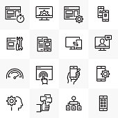 UX RELATED LINE ICONS SET