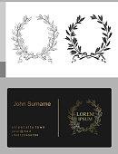 Laurel wreath for classical emblem on a black background vector graphics