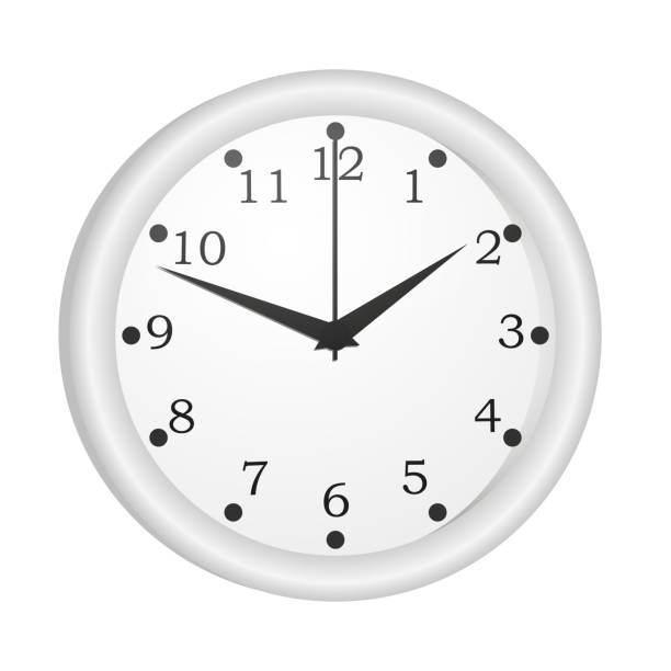 Мои настенные часы Classic wall clock isolated on white background. The device for determining the time readings. wall clock stock illustrations