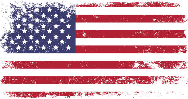 usa - american flag background stock illustrations