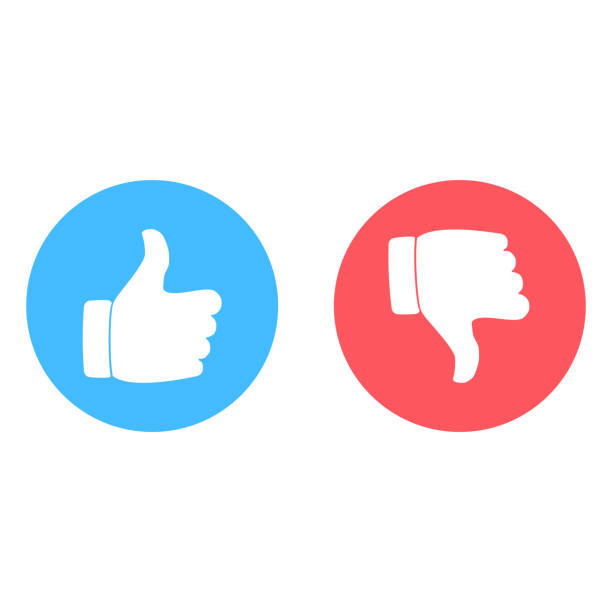 Печать Yes and no sign. Like and dislike icon artificial stock illustrations