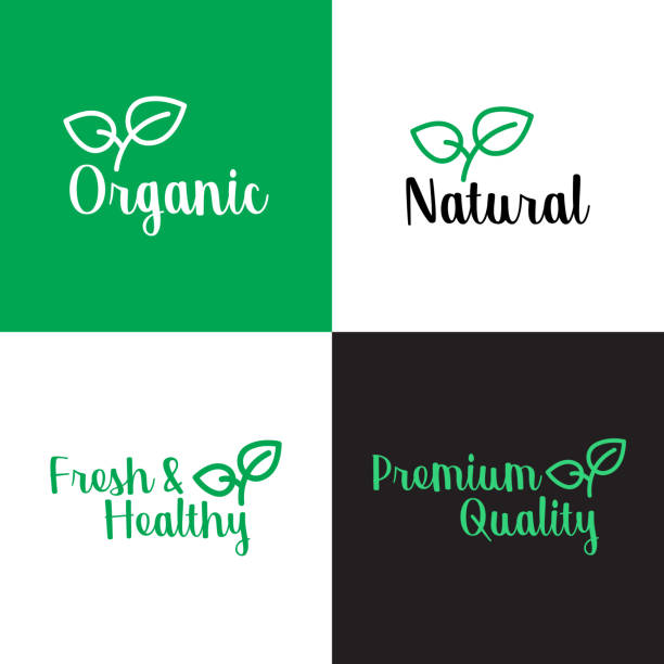 ORGANIC PRODUCTS BANNER ORGANIC PRODUCTS BANNER natural condition stock illustrations