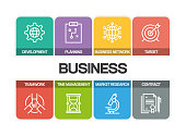 BUSINESS RELATED LINE ICONS