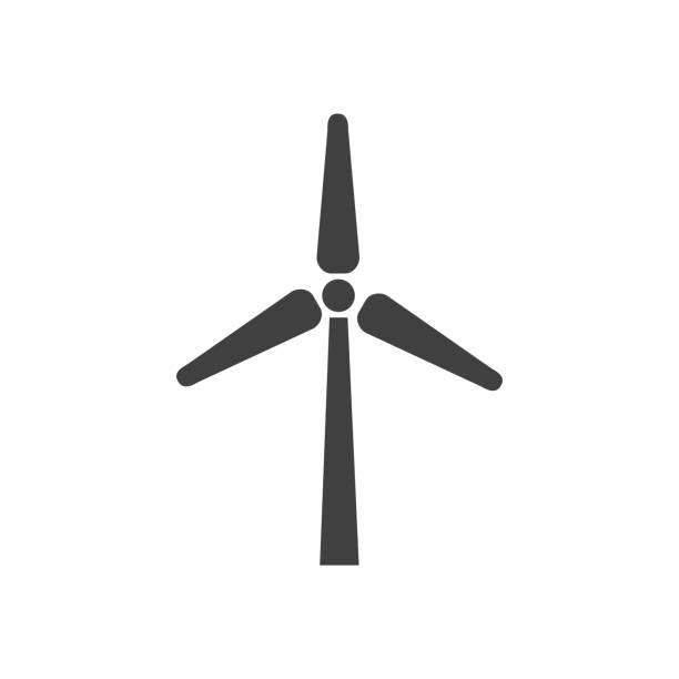 stockillustraties, clipart, cartoons en iconen met wind turbine concept - windmolen