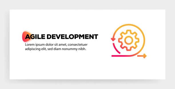 ilustrações de stock, clip art, desenhos animados e ícones de agile development icon concept - agilidade