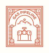 GAS PIPELINE ICON CONCEPT