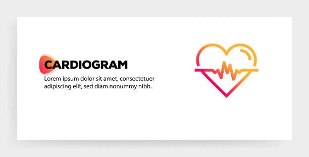 bildbanksillustrationer, clip art samt tecknat material och ikoner med ikon koncept för cardiogram - kardiolog