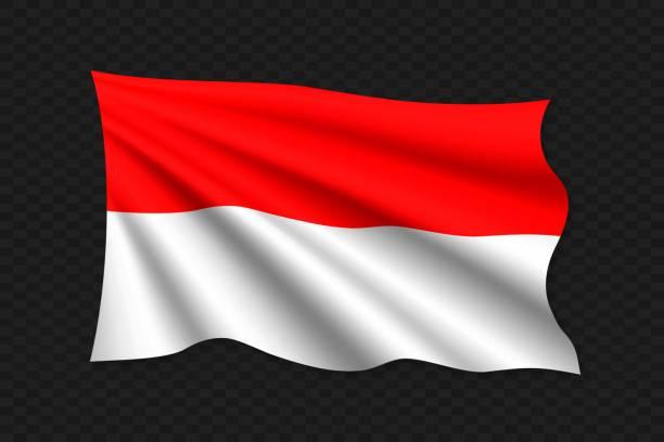 stockillustraties, clipart, cartoons en iconen met ðñð1/2ð3/4d ² ð1/2ñðμ rgb - indonesische vlag