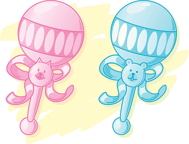 Best Baby Rattle Illustrations, Royalty-Free Vector ...