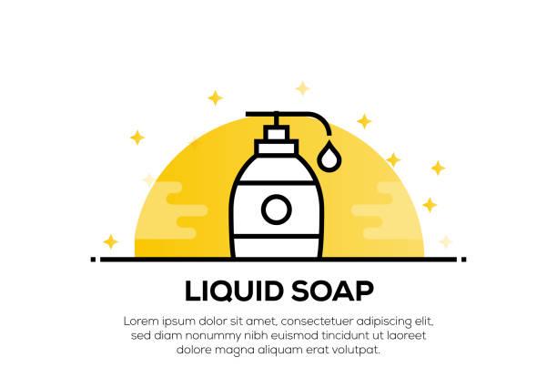 液体石鹸アイコンコンセプト - 体 洗う点のイラスト素材/クリップアート素材/マンガ素材/アイコン素材