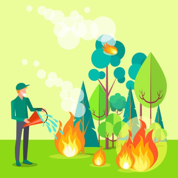 bildbanksillustrationer, clip art samt tecknat material och ikoner med d ñð1/4ñð1/2ð1/2ñð ¶ ì-4 - skog brand