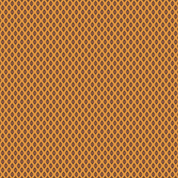 bildbanksillustrationer, clip art samt tecknat material och ikoner med seamless_retro_geometric_mini_circle_wave_stripe_pattern_golden_ocher_background - hui style