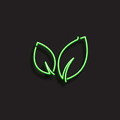 NATURE ICON - NEON STYLE