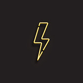 ELECTRICITY ICON - NEON STYLE
