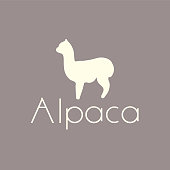 Cute llamas or alpacas with colorful spring flowers hand drawn vector illustration.