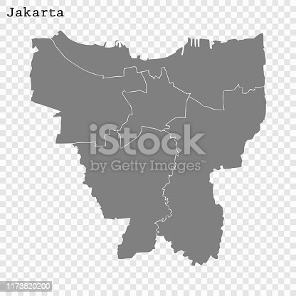 High quality Map Jakarta City. vector illustration