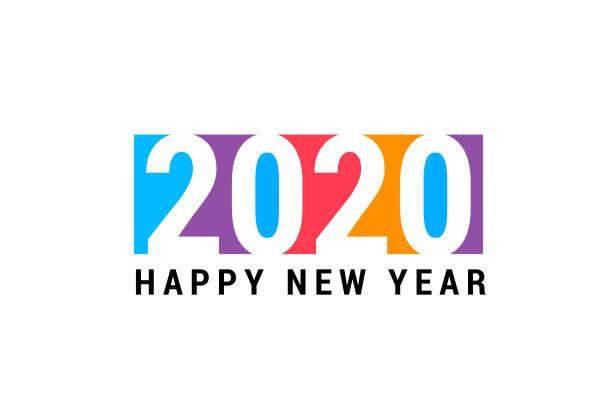 2020 vector art illustration