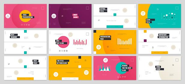 presentation templates stock illustrations