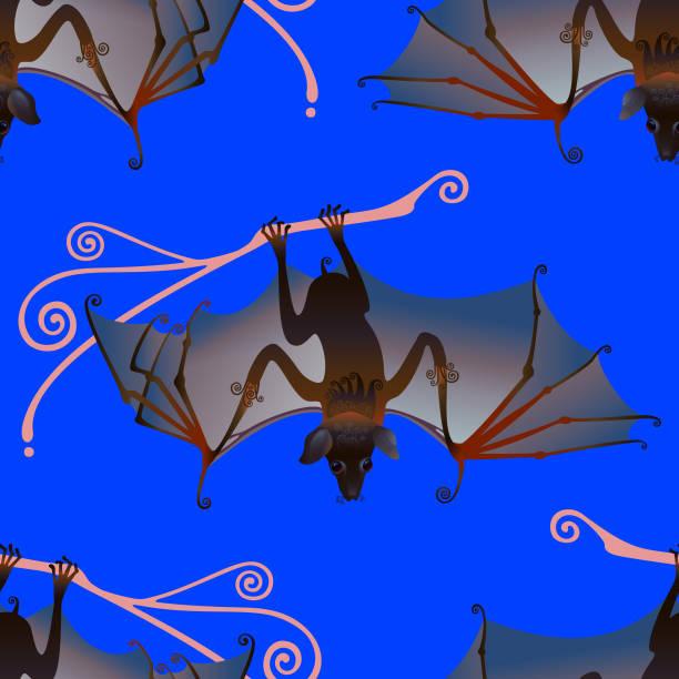 flying fox - megabat stock-grafiken, -clipart, -cartoons und -symbole