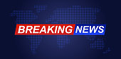 Background screen saver on breaking news. Business / Technology News Background. Breaking News Live on World Map Background