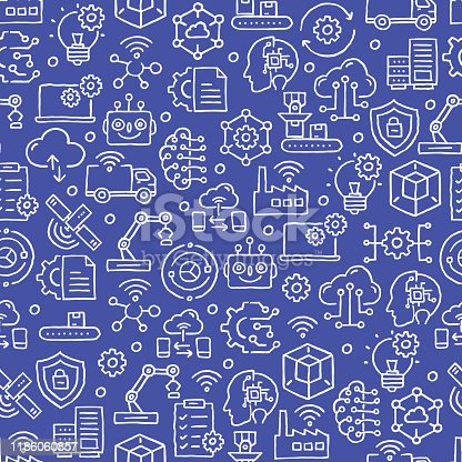 INDUSTRY 4.0 RELATED SEAMLESS PATTERN
