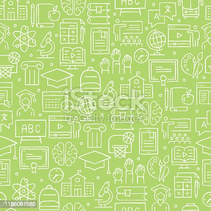EDUCATION RELATED SEAMLESS PATTERN