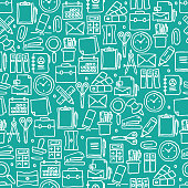STATIONERY RELATED SEAMLESS PATTERN