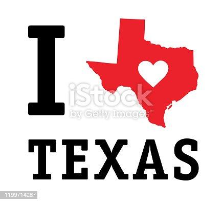 istock I LOVE TEXAS 1199714287