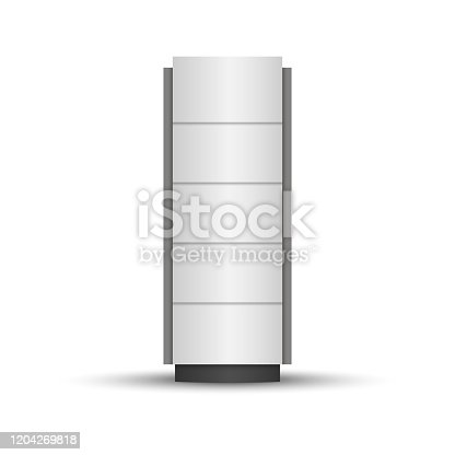 Outdoor advertising pylon, stella or stand template