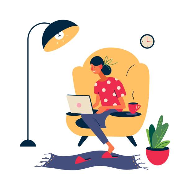 ðŸðµñ‡ð°ñ'ñŒ - working from home stock illustrations