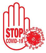 Vector STOP COVID-19