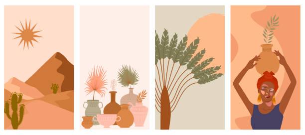illustrazioni stock, clip art, cartoni animati e icone di tendenza di s.o.o.a. - woman portrait forest