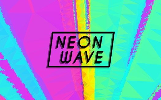 NEW RETRO WAVE CREATIVE NEON COLOR ABSTRACT GRAPHIC BACKGROUND