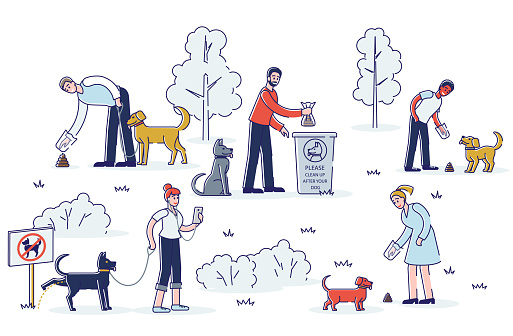 убирать за своей собакой
