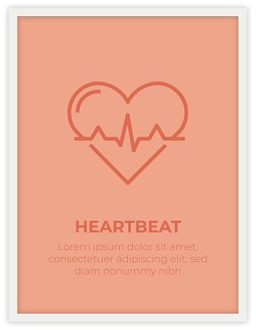 HEARTBEAT SINGLE ICON POSTER DESIGN