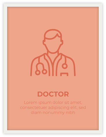 DOCTOR SINGLE ICON POSTER DESIGN