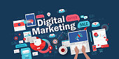 istock DIGITAL MARKETING BANNER CONCEPT 1265338606