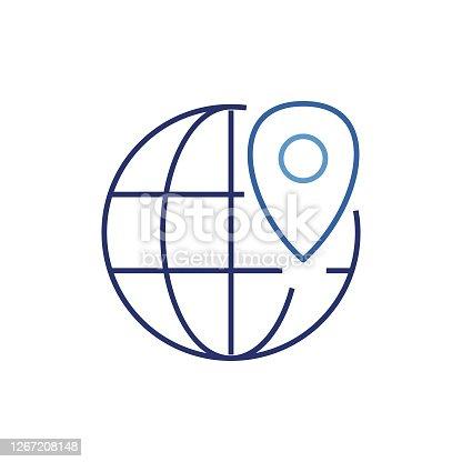 istock LOCATION FINDER LINE ICON DESIGN 1267208148